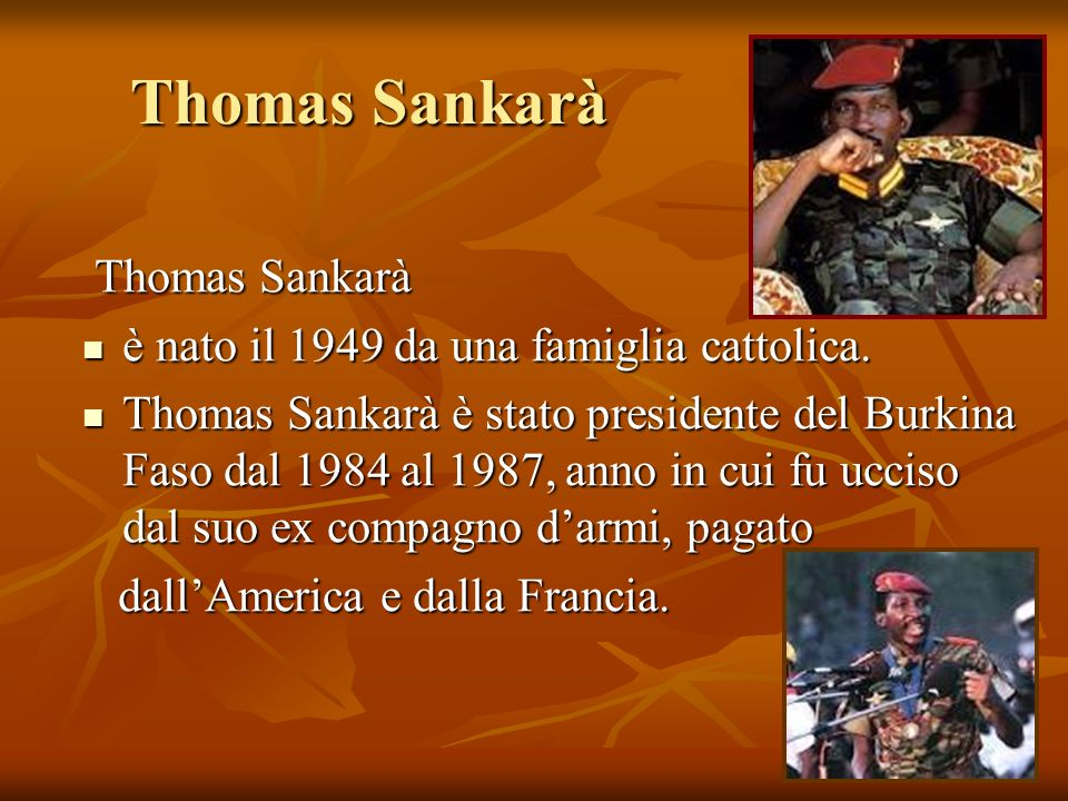 Thomas Sankarà Thomas Sankarà