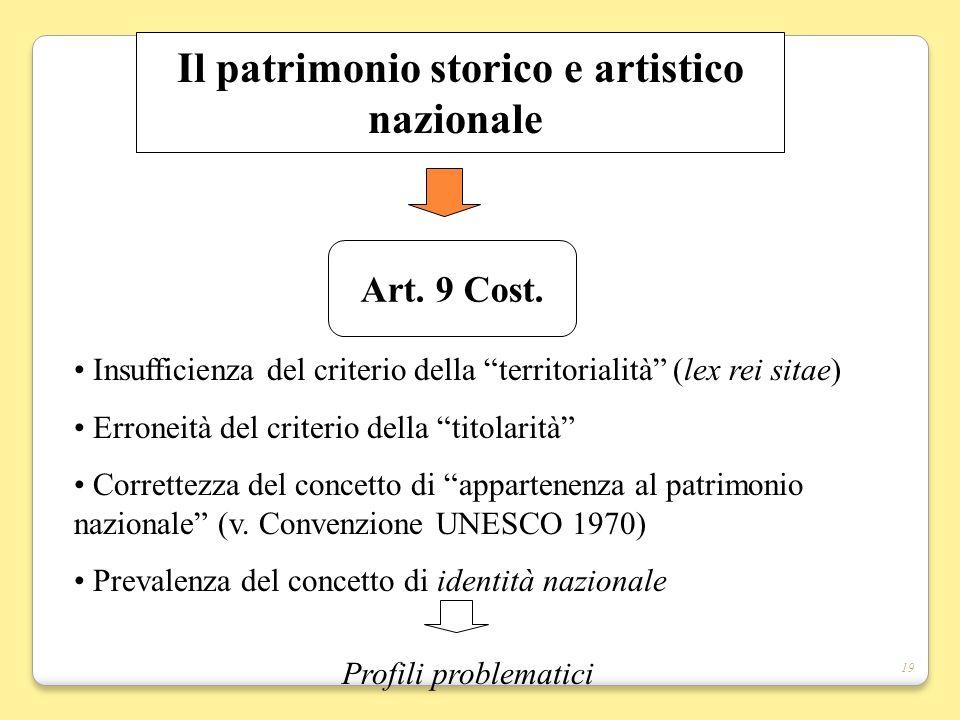Il patrimonio storico e artistico