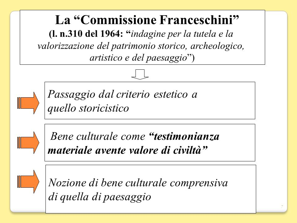 La Commissione Franceschini