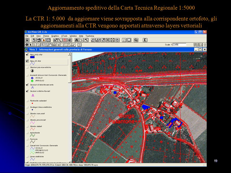 Aggiornamento speditivo della Carta Tecnica Regionale 1:5000