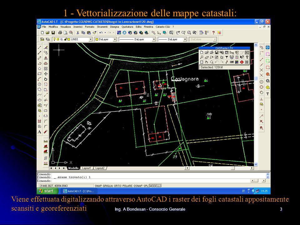 1 - Vettorializzazione delle mappe catastali: