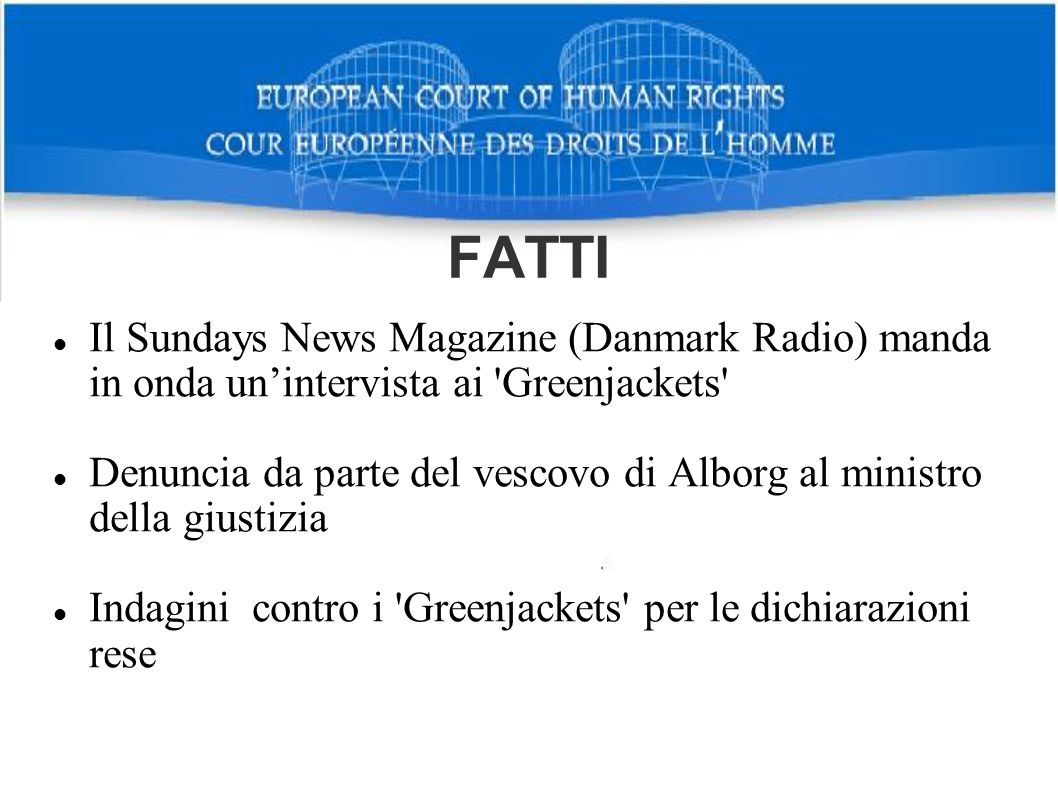 FATTI Il Sundays News Magazine (Danmark Radio) manda in onda un'intervista ai Greenjackets