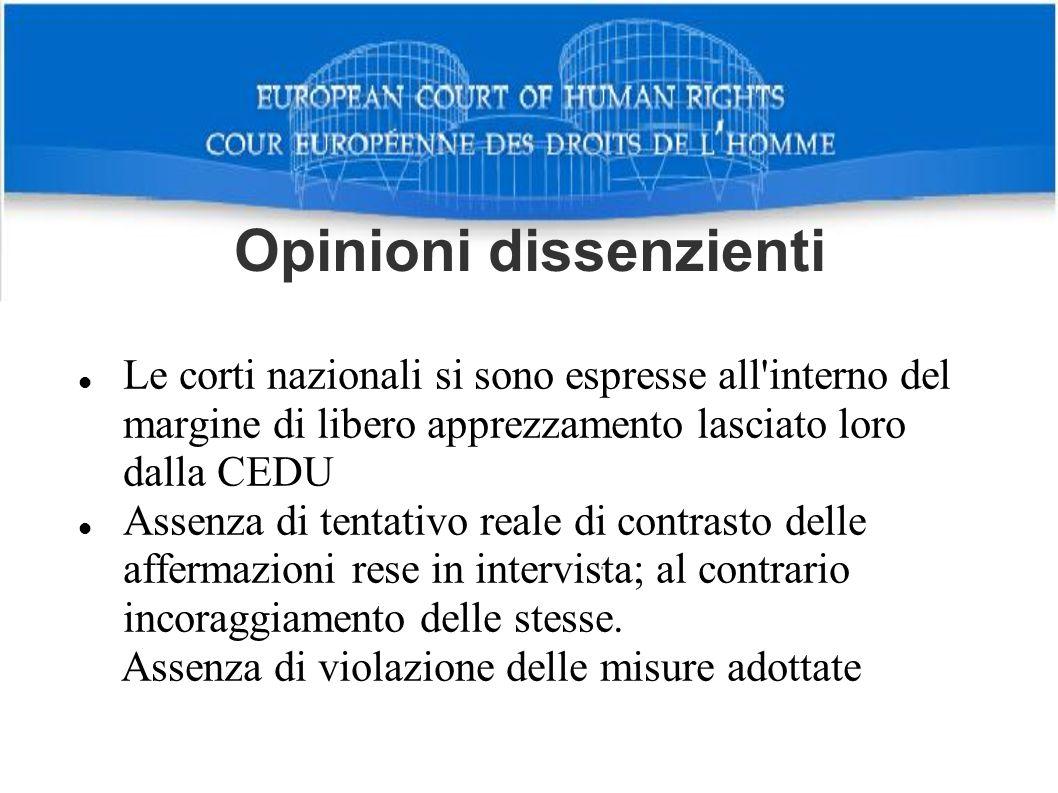 Opinioni dissenzienti