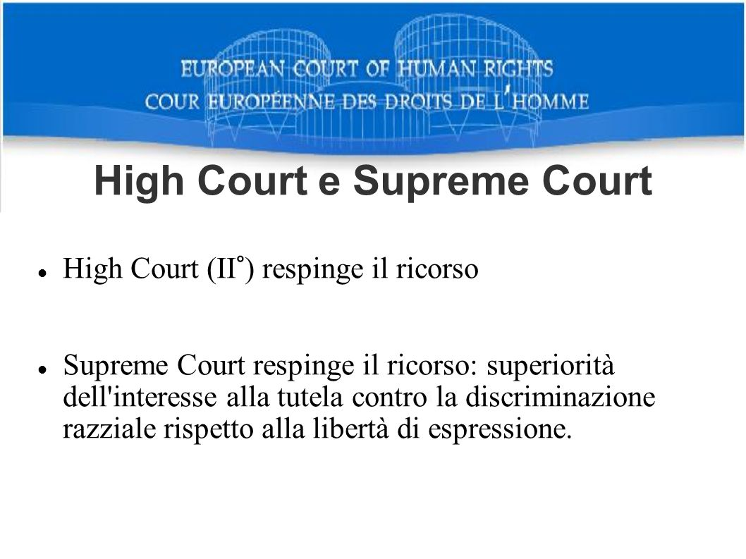High Court e Supreme Court