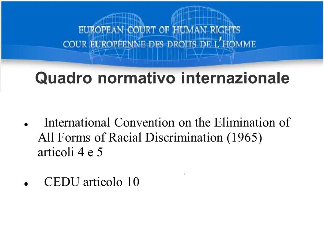 Quadro normativo internazionale