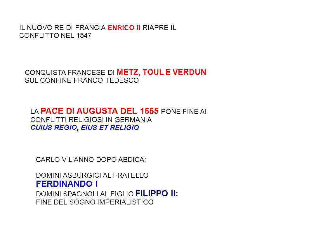 IL NUOVO RE DI FRANCIA ENRICO II RIAPRE IL CONFLITTO NEL 1547