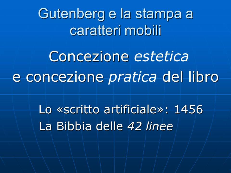 Gutenberg e la stampa a caratteri mobili