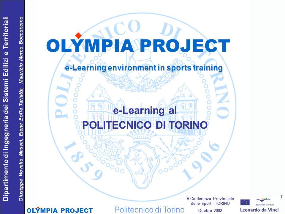 OLYMPIA PROJECT e-Learning al POLITECNICO DI TORINO