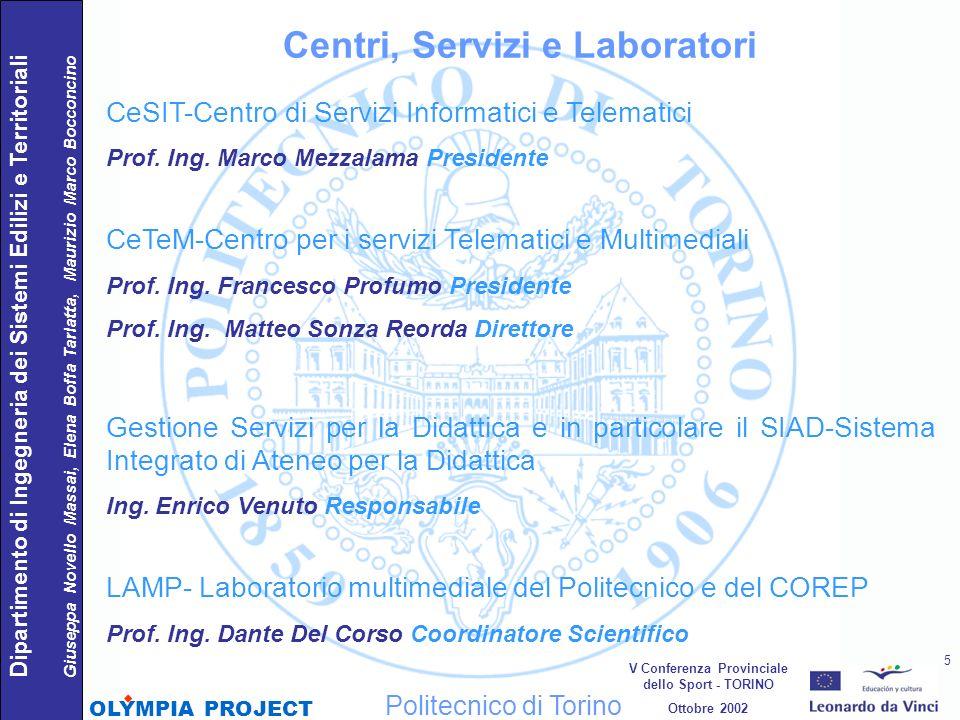 Centri, Servizi e Laboratori