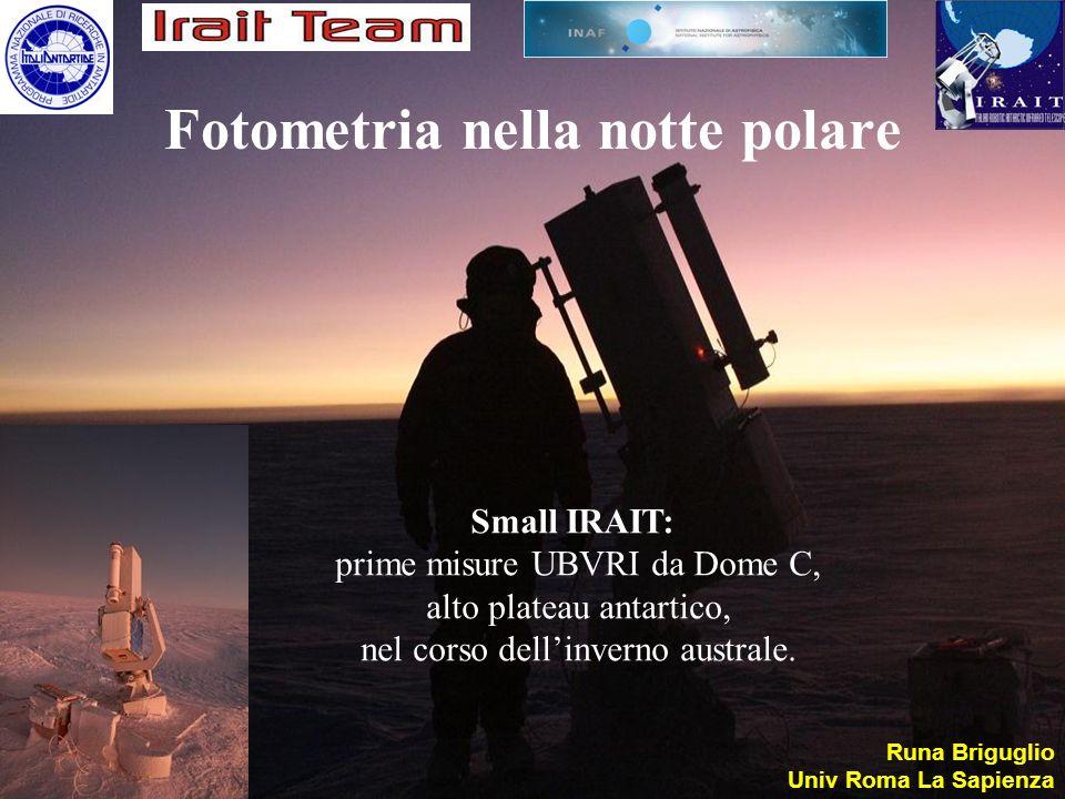 Fotometria nella notte polare