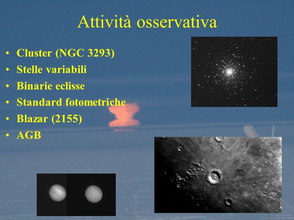 Attività osservativa Cluster (NGC 3293) Stelle variabili