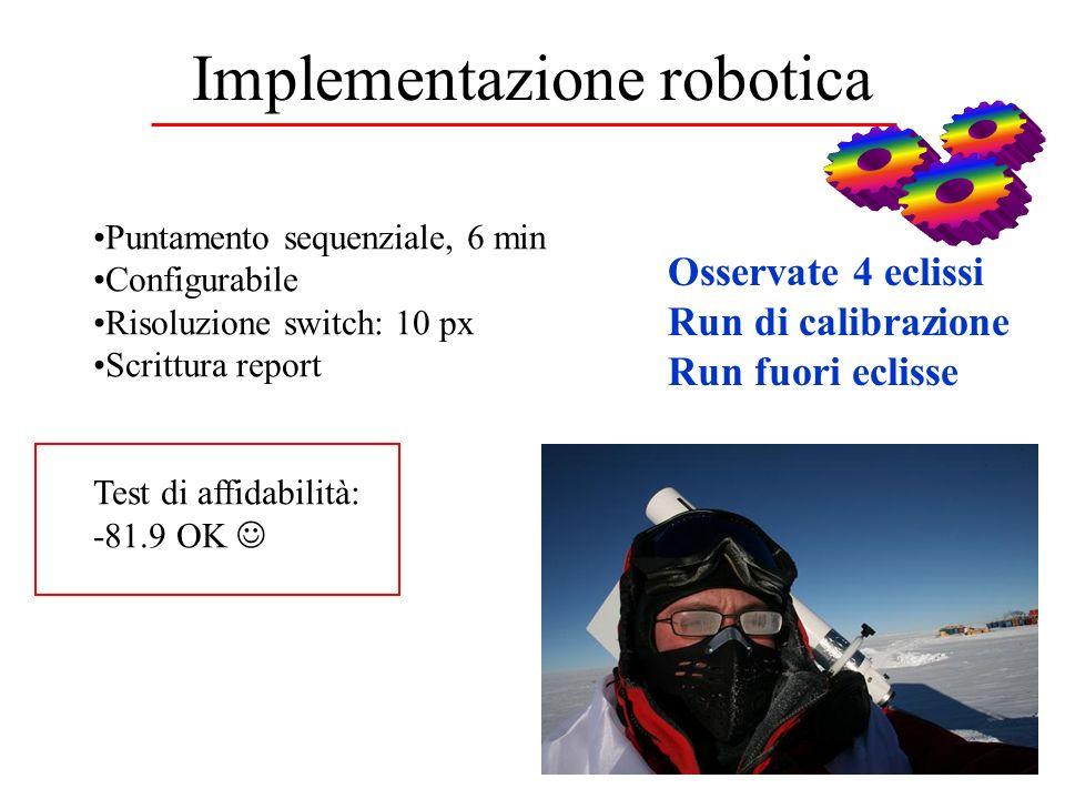 Implementazione robotica