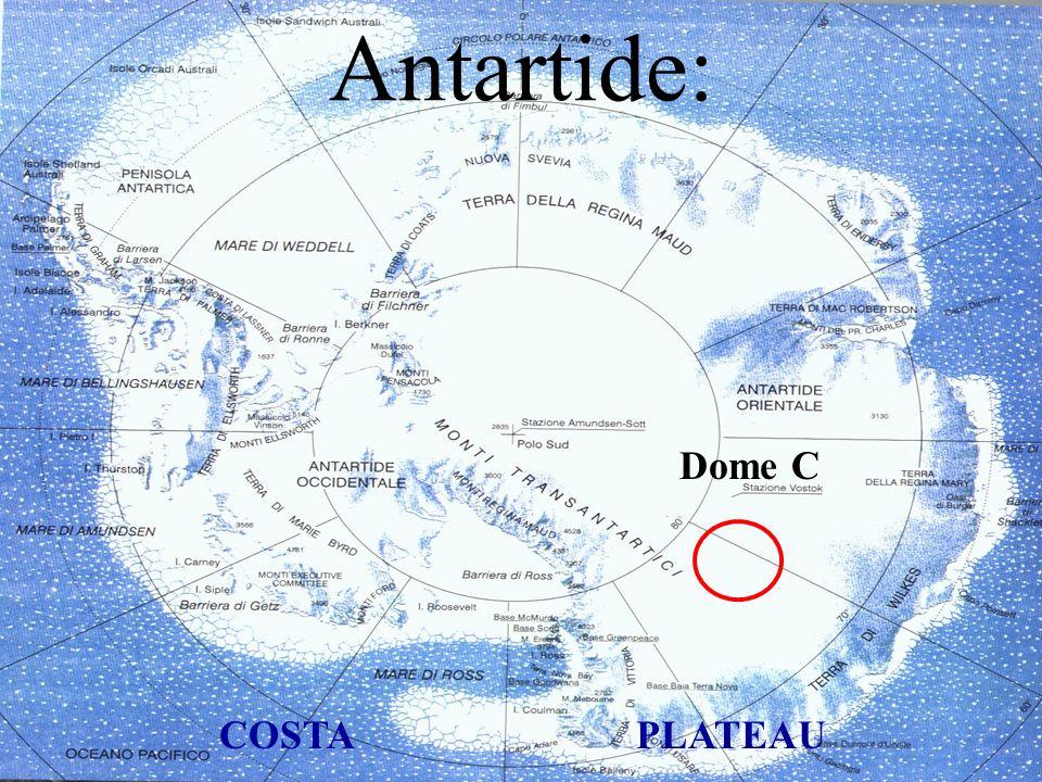 Antartide: Dome C COSTA PLATEAU
