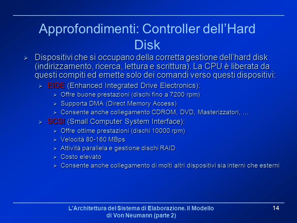 Approfondimenti: Controller dell'Hard Disk