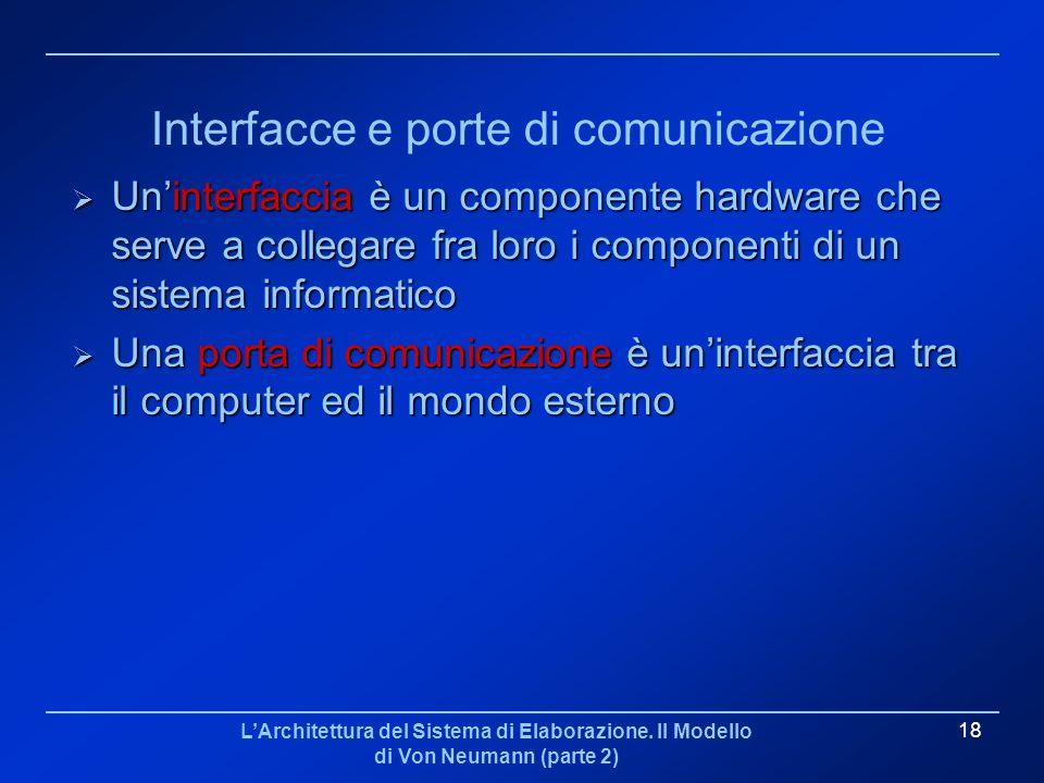 Interfacce e porte di comunicazione