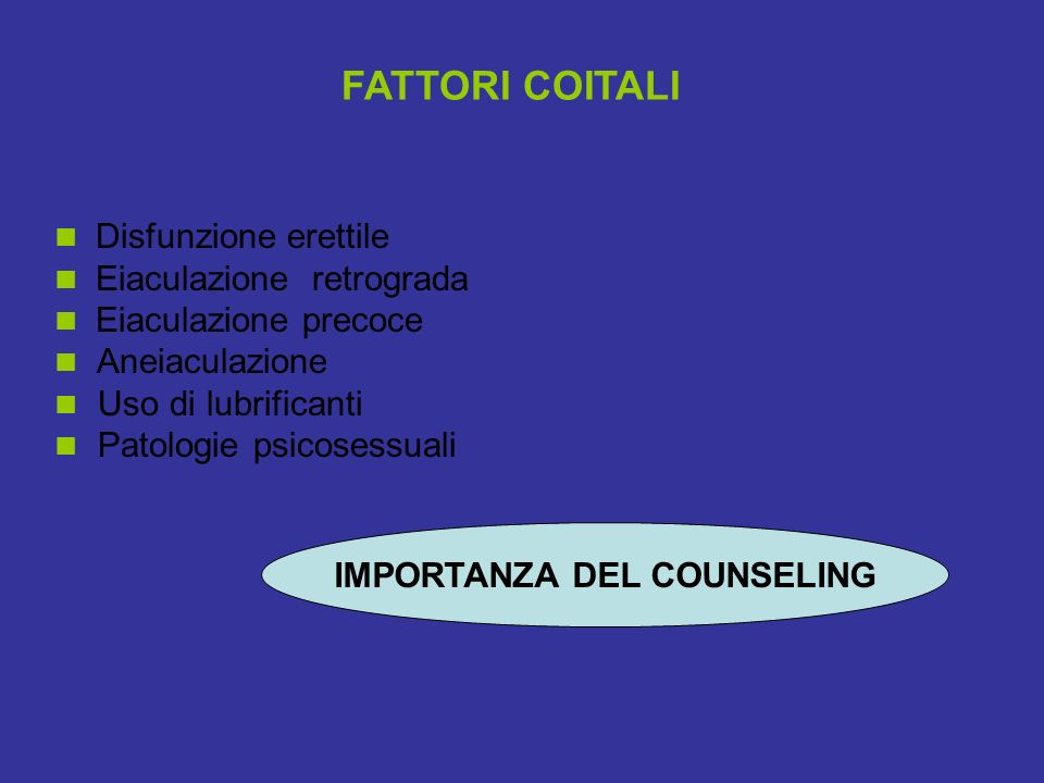 IMPORTANZA DEL COUNSELING