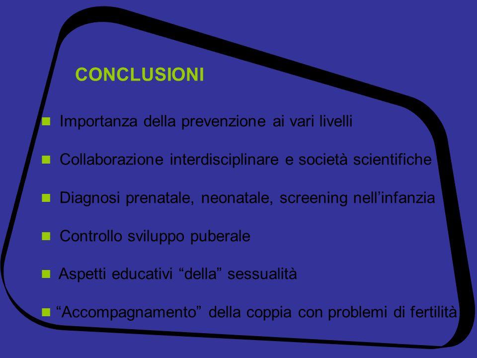 CONCLUSIONI  Importanza della prevenzione ai vari livelli