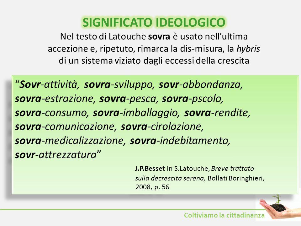 SIGNIFICATO IDEOLOGICO