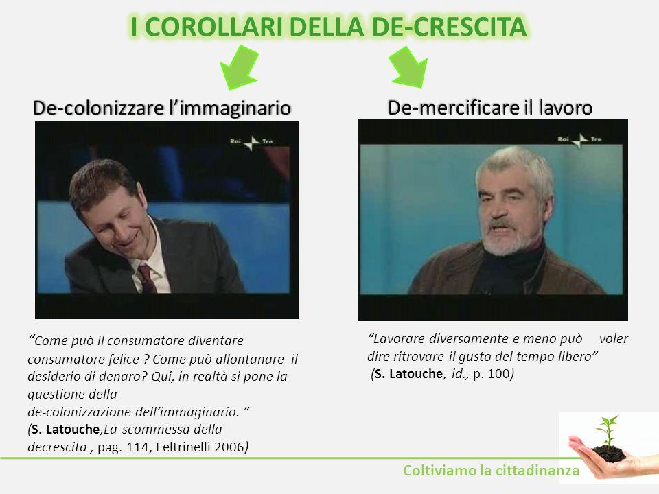I COROLLARI DELLA DE-CRESCITA