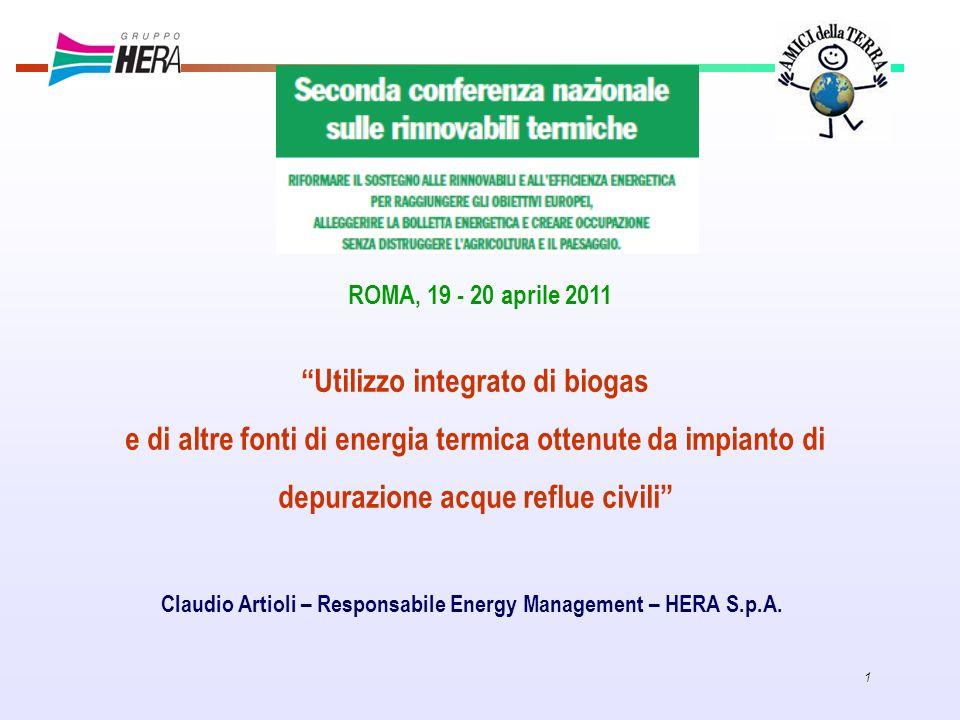 Utilizzo integrato di biogas