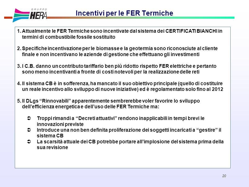Incentivi per le FER Termiche