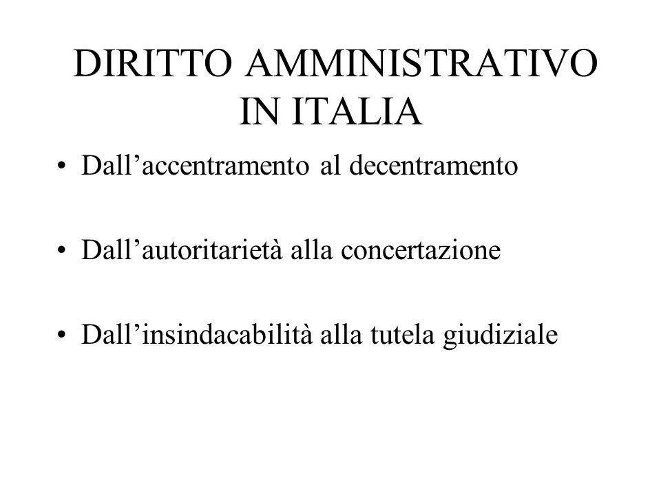 DIRITTO AMMINISTRATIVO IN ITALIA
