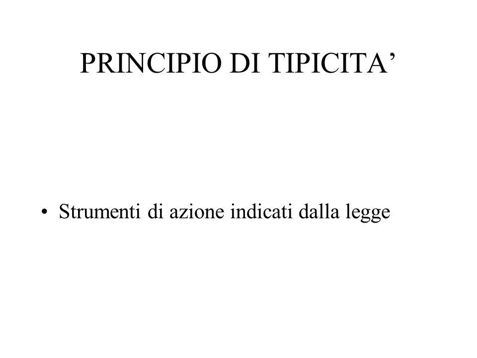 PRINCIPIO DI TIPICITA'