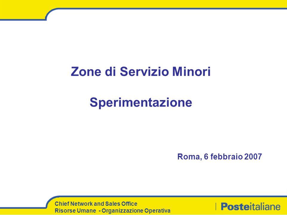 Zone di Servizio Minori Sperimentazione