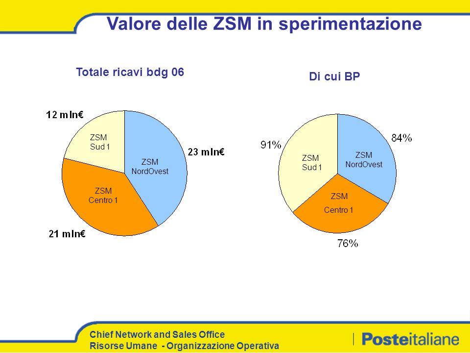 Valore delle ZSM in sperimentazione