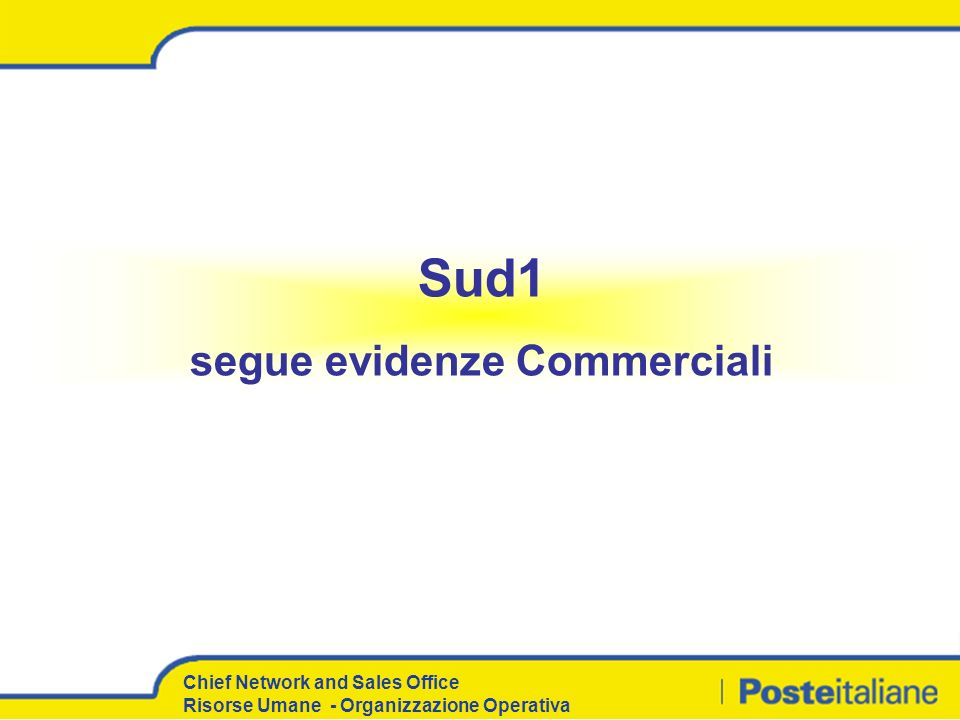 segue evidenze Commerciali