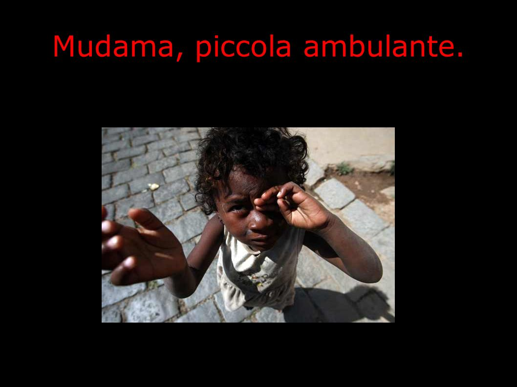 Mudama, piccola ambulante.
