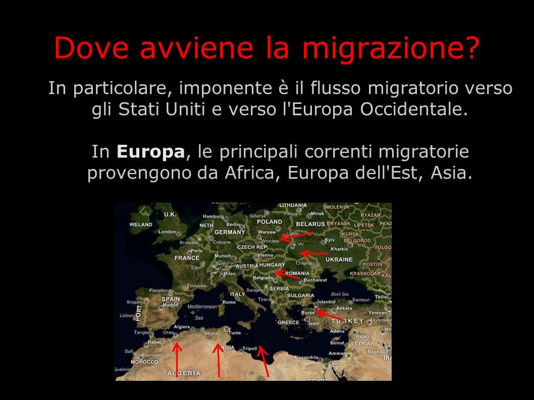 Dove avviene la migrazione