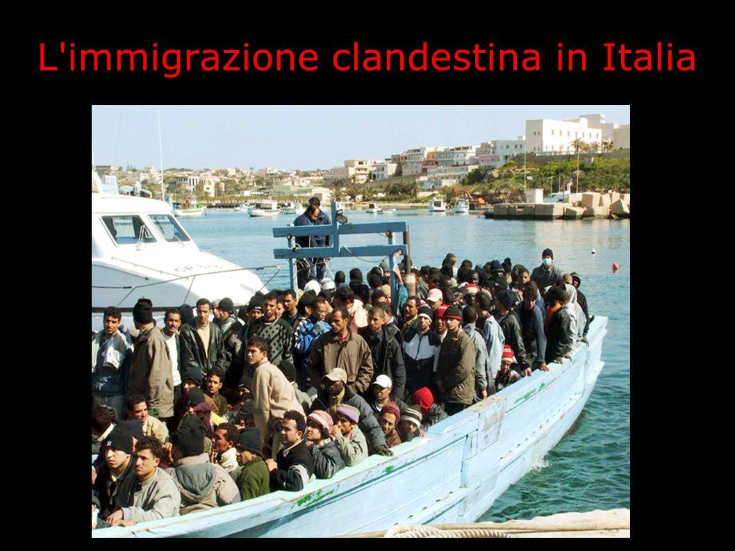 L immigrazione clandestina in Italia