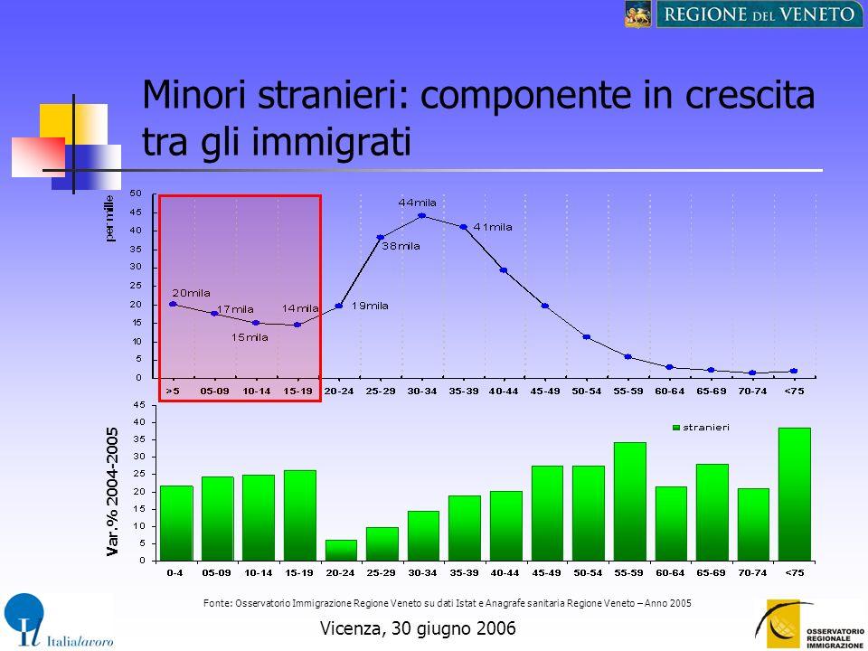 Minori stranieri: componente in crescita tra gli immigrati