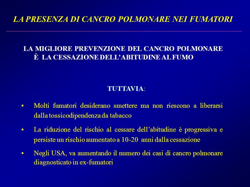 LA PRESENZA DI CANCRO POLMONARE NEI FUMATORI