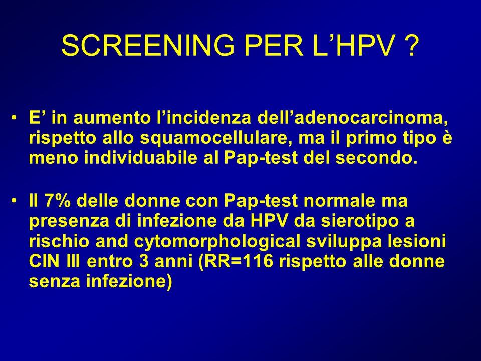 SCREENING PER L'HPV