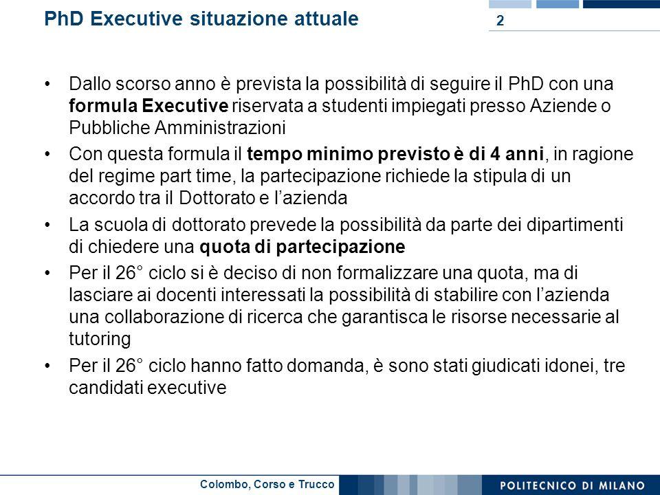 PhD Executive situazione attuale