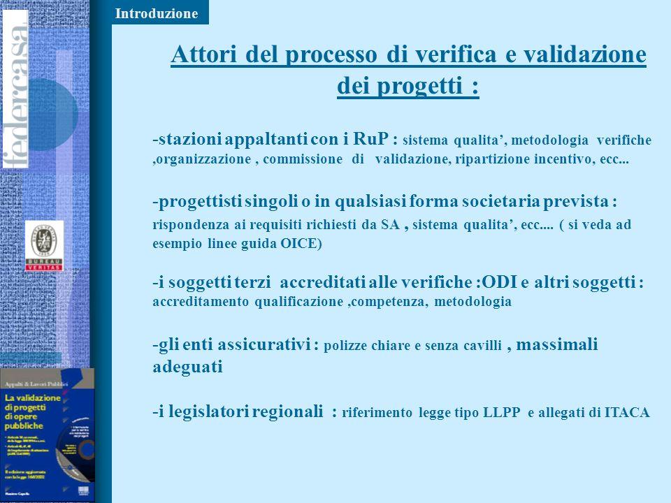 Attori del processo di verifica e validazione dei progetti :