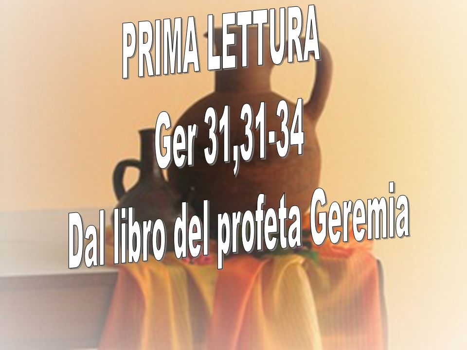 Dal libro del profeta Geremia