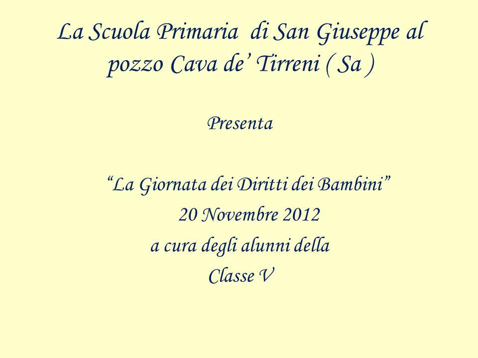 La Scuola Primaria di San Giuseppe al pozzo Cava de' Tirreni ( Sa )