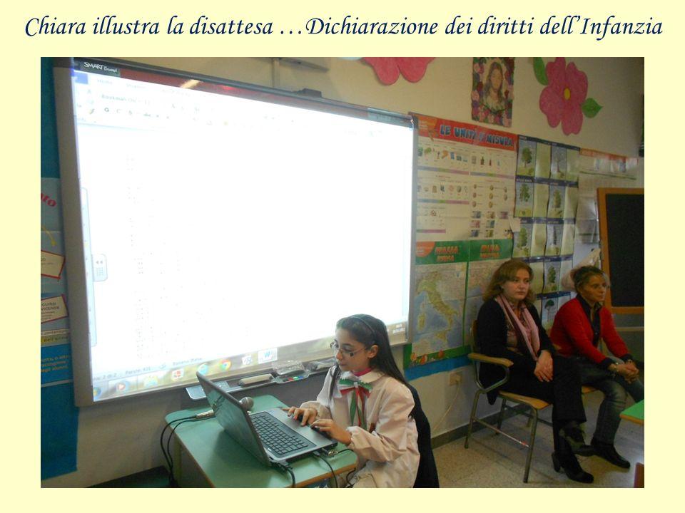 Chiara illustra la disattesa …Dichiarazione dei diritti dell'Infanzia