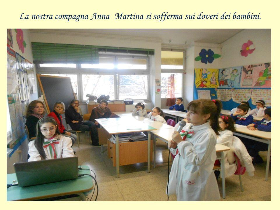 La nostra compagna Anna Martina si sofferma sui doveri dei bambini.