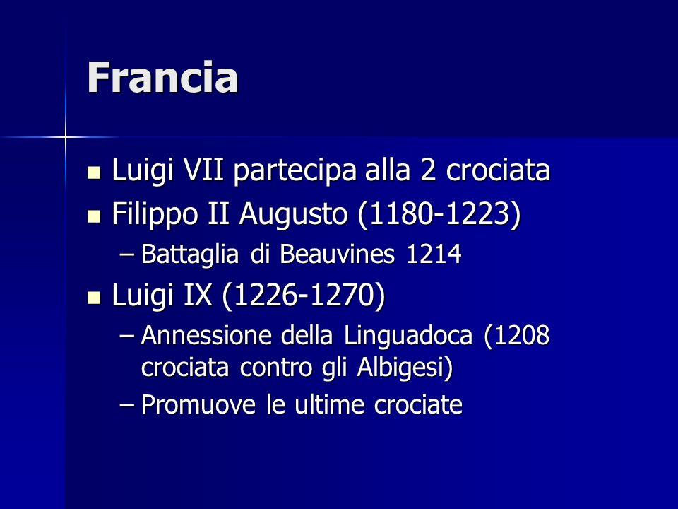 Francia Luigi VII partecipa alla 2 crociata