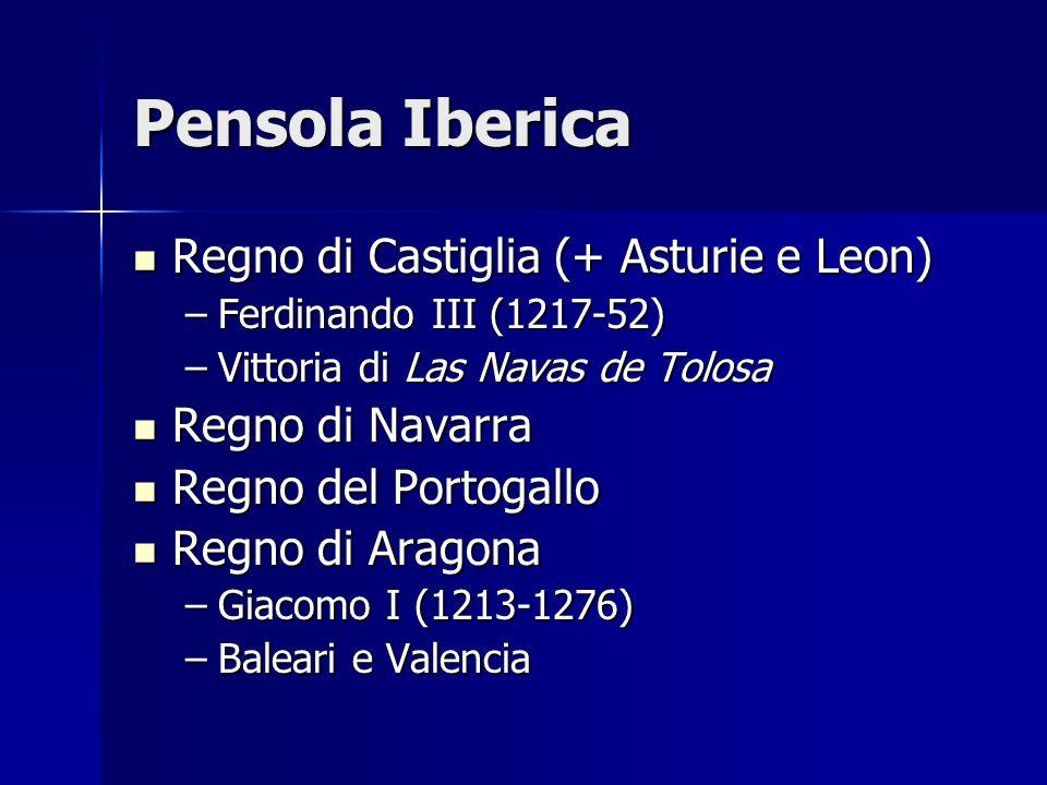 Pensola Iberica Regno di Castiglia (+ Asturie e Leon) Regno di Navarra