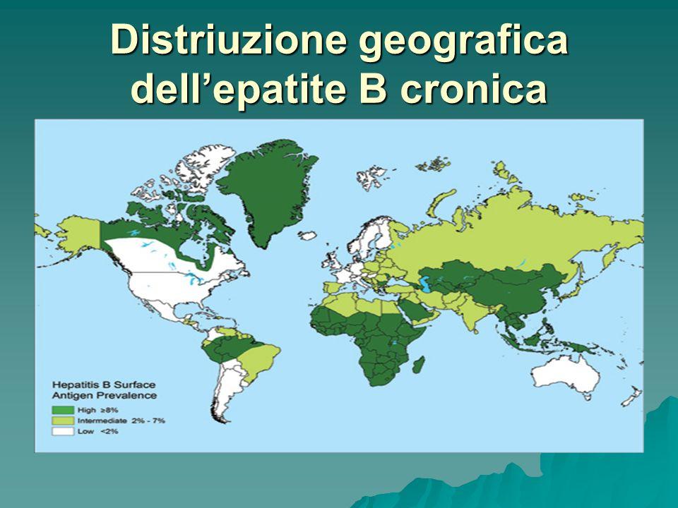 Distriuzione geografica dell'epatite B cronica