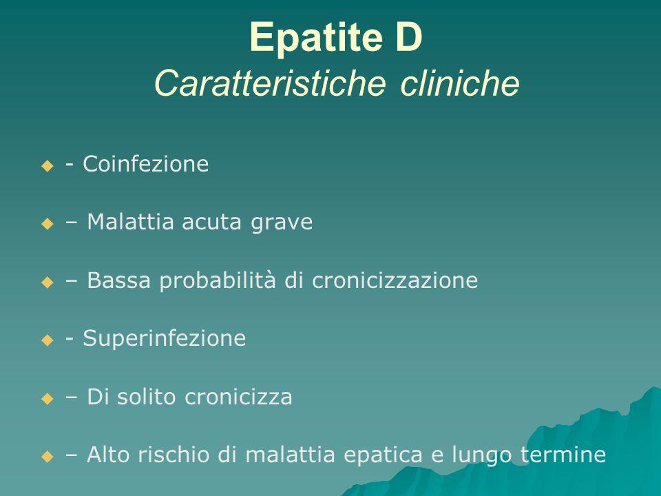 Epatite D Caratteristiche cliniche