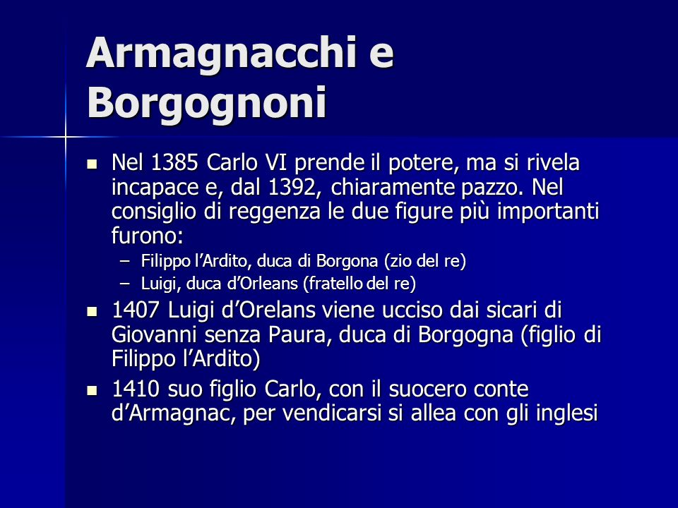 Armagnacchi e Borgognoni