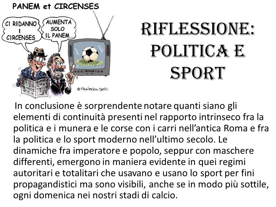 Riflessione: Politica e Sport