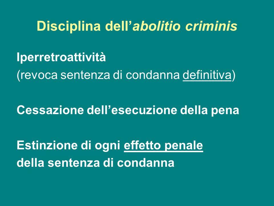 Disciplina dell'abolitio criminis