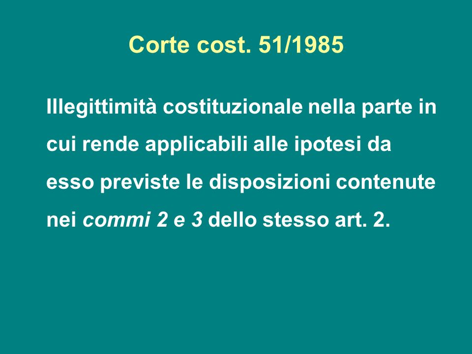 Corte cost. 51/1985